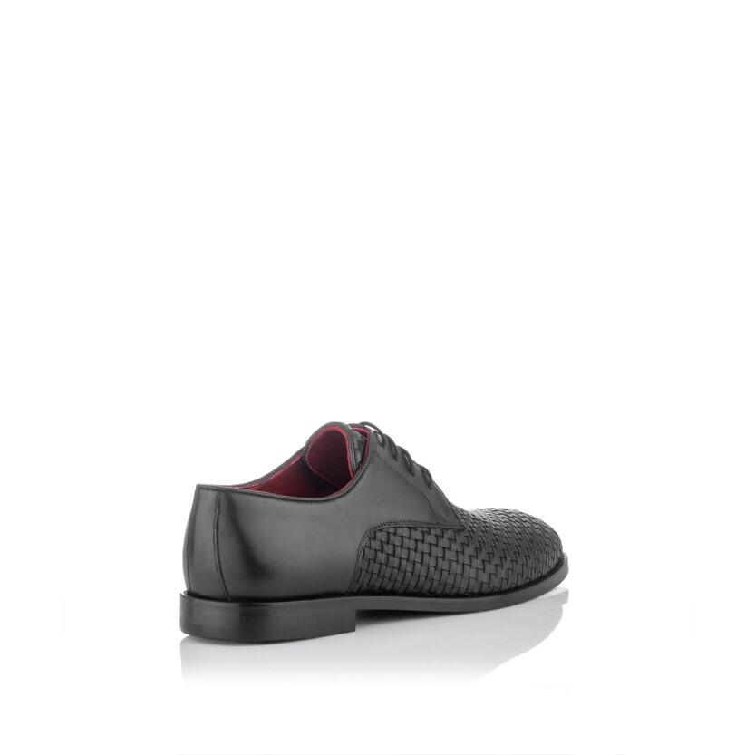 Gewebte Derby-Schuhe aus Leder für Herren Angelo Schwarz