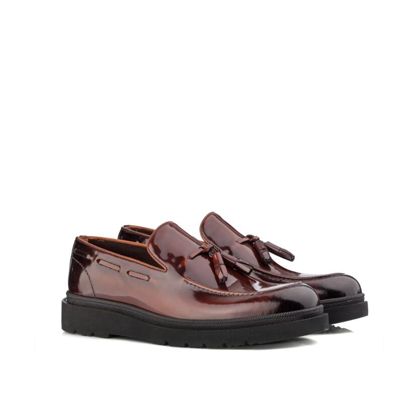 Slip-on-Schuhe für Herren Luigi Lackleder Rot