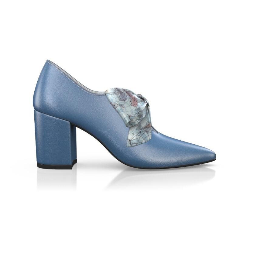 Block Heel Pointed Toe Schuhe 14825