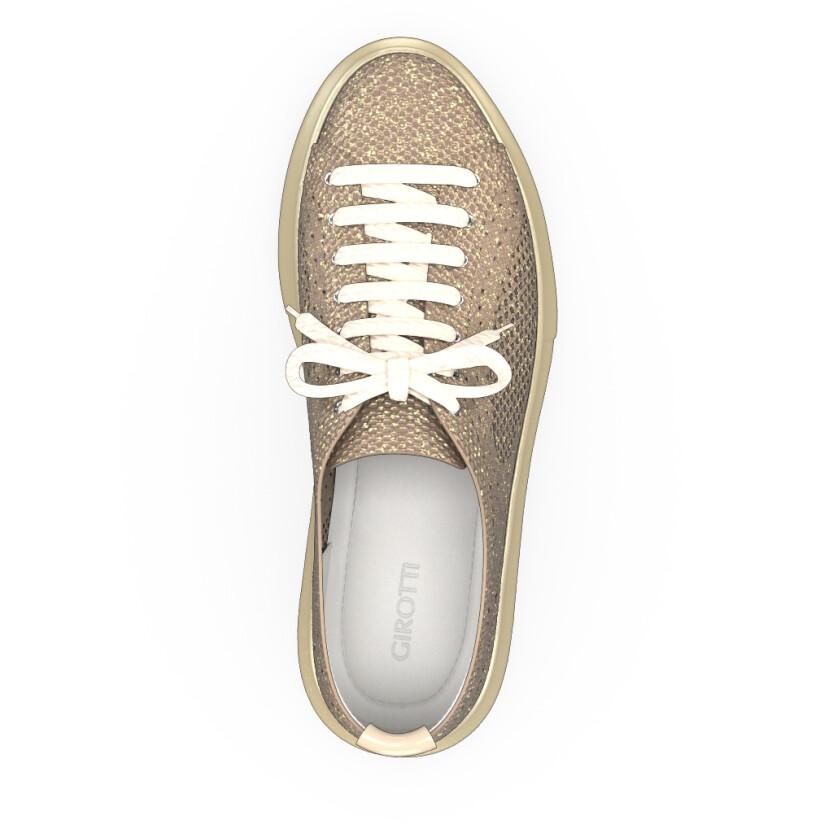 Plateau Sneakers mit Netzgewebe 9490