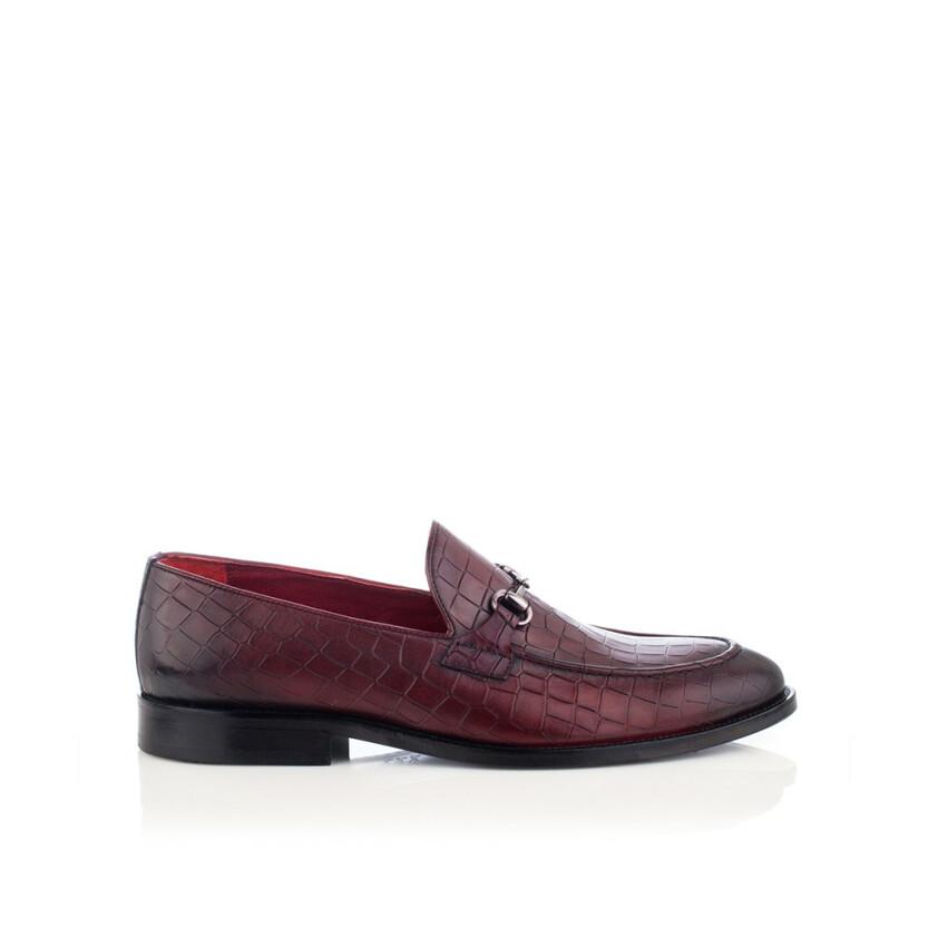 Horsebit-Loafer für Herren Giovanni Bordeaux