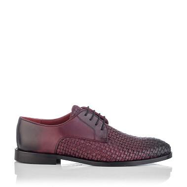 Gewebte Derby-Schuhe aus Leder für Herren Angelo Bordeaux