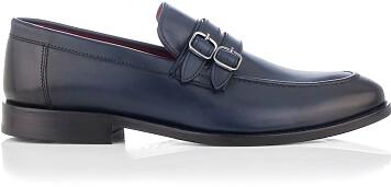 Loafer mit zwei Schnallen für Herren Alessandro Blau