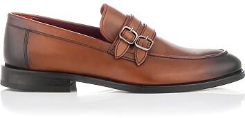 Loafer mit zwei Schnallen für Herren Alessandro Cognac
