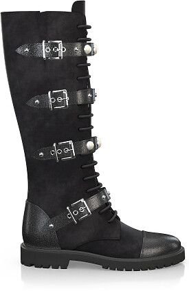Knee High Schnürstiefel 3356