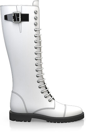 Knee High Schnürstiefel 3556