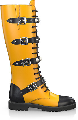 Knee High Schnürstiefel 3753