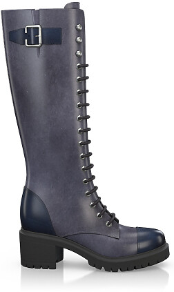 Knee High Schnürstiefel 4043