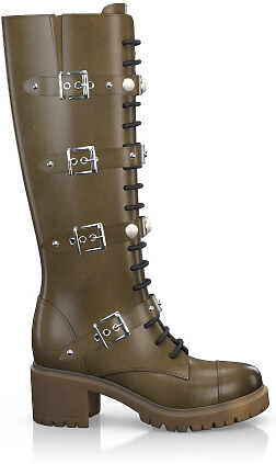 Knee High Schnürstiefel 4046-92