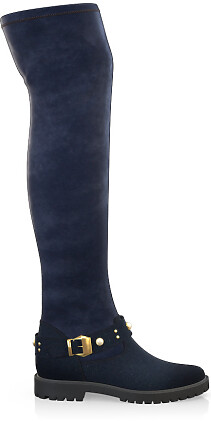 Stretch Overknee Stiefel 4057