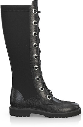 Knee High Schnürstiefel 4191