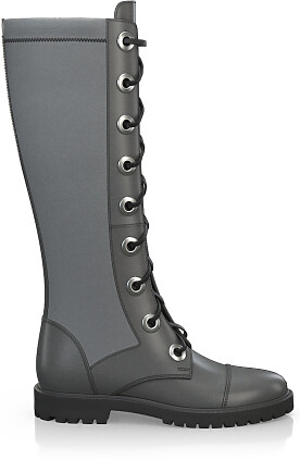 Knee High Schnürstiefel 4197