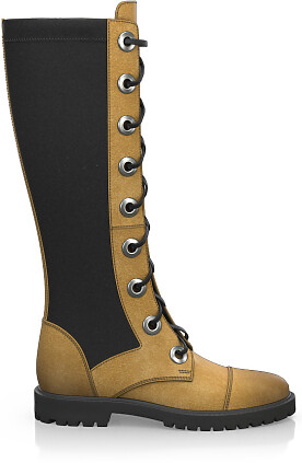 Knee High Schnürstiefel 4198
