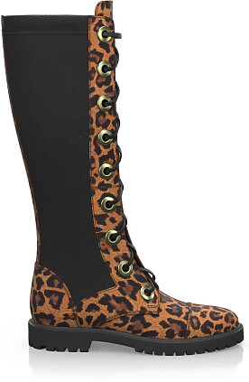 Knee High Schnürstiefel 7939