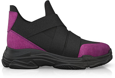 Dehnbare Sneakers mit Chunky Sole 10688