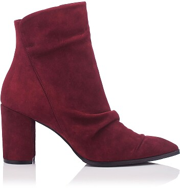 Heels Ankle Boots Viviana Veloursleder - Burgund