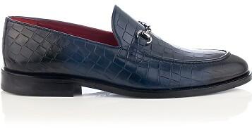 Horsebit-Loafer für Herren Giovanni Blau