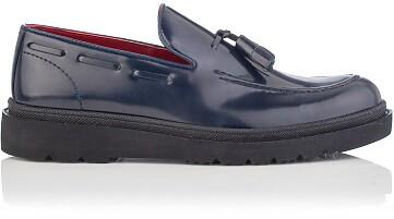 Slip-on-Schuhe für Herren Luigi Lackleder Blau