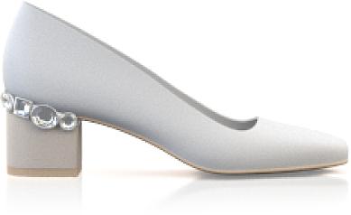 Schuhe mit Schmuckabsatz