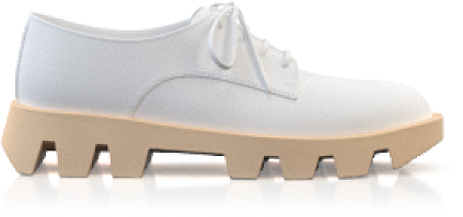 Plattform Schuhe mit bunter Sohle
