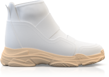 Dehnbare Sneakers mit Chunky Sole