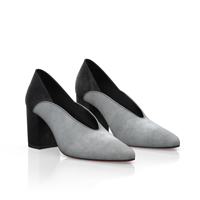 BLOCK HEEL POINTED TOE SHOES 7382