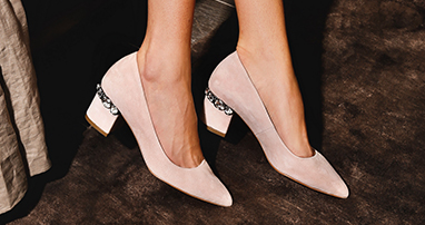 Powder pink heels